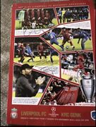 Liverpool Champs League 19/20 Signed Program Arnold Gini Ox