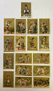 16 Of 19th Century Victorian Antique Trade Cards Boy Girls Big Kids Young Ladies