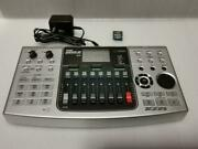 Zoom Mtr Mrs-8 Silver Recording Pa Music Equipment Ac Adapter Manual Used