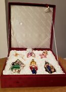 Old World Christmas Nutcracker Suite Glass Ornaments Collection In Fabric Box