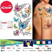 Uninet Icolor Temporary Tattoo 2 Step Transfer And Adhesive Media Kit 100 Sh A4