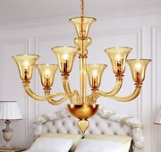 Suspended Lights Classic With Glass Of Murano Yellow Gold
