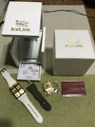Icelink Gzb-0506 Stainless Steel Water Resistant Menand039s Wrist Watch And Accessories