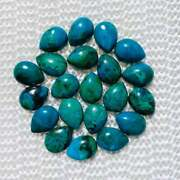 Natural Chrysocolla Pear Shape Cabochon Loose Gemstones Size 13x18mm To 16x32mm