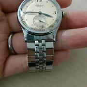 940-50s Apina Rensie Automatic Stainless Steel Antique Analog Menand039s Wrist Watch