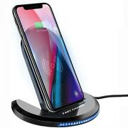 Wireless Charger 15w Fast Folding Stand 2-coils Charging Pad For Smartphones