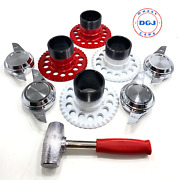 5 Lug Universal Wire Wheel Adapters Lead Hammer And 2 Bar Cut Spinners