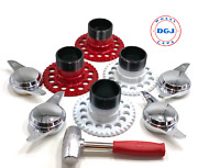 5 Lug Universal Wire Wheel Adapters Lead Hammer And 2 Bar Smooth Spinners