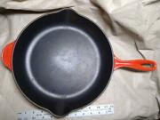 Le Creuset 30 Skillet 12 Red Enameled Cast Iron Double Spout Made In France