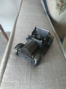 Vintage Brass Replica Buggy Car 1917 W/pencil Sharpener And Rolling Wheels