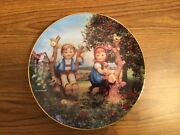 M.j. Hummel Plate - Apple Tree Boy And Girl Limited Edition