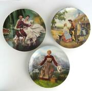 Set Of 3 Knowles Collector Plates Sound Of Music Oklahoma The King And I Musical