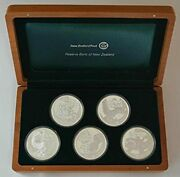 2009 Nz 1 Giants Of New Zealand Silver Proof Coin Set 1456
