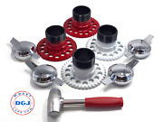 5 Lug Universal Wire Wheel Adapters Lead Hammer And Zenith Smooth Spinners