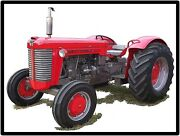 Massey Harris Tractors New Metal Sign Model 88 Featured Large Size 12 X 16