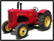 Massey Harris Tractors New Metal Sign Model 203g Featured Large Size 12 X 16