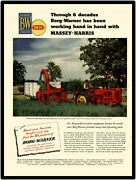 Massey Harris Tractors New Metal Sign Model 44 Shown Large Size 12 X 16