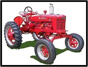 Farmall Tractors New Metal Sign Model Hv Featured Large Size 12 X 16