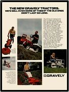 1971 Gravely Lawn Mowers Garden Tractors New Metal Sign Clemmons Nc