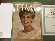 Princess Diana Time Magazine, With Limited Edition Certification.