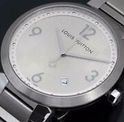Louis Vuitton Tambour Damier Q1d01 Menand039s Watch Shipped From Japan