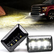 White Led Fog Lights Front Bumper Driving Lamp Assembly For 2015-2019 Ford F-150