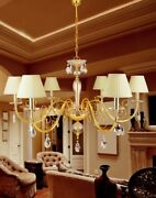 Suspended Lights Classic With Crystal Clear Transparent Gold
