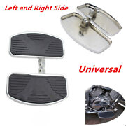 Pair Universal Motorcycle Left+right Floorboards Foot Boards Pedal Time-proof