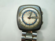 Wittnauer Alarm Ad13a High Beat Automatic Original Band Watch Runs For Restore