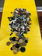 Junk Drawer - Vintage Antique Lot - Buttons Sewing Etc.. Take A Look Wow