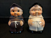Goebel White And Brown Friar Tuck Handled Creamers/pitchers S-141/1 Ec 5 1/2