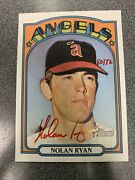 2021 Topps Heritage Nolan Ryan Real One Autograph Red Ink Auto 50/72 Angels 1972