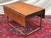 18th C William And Mary Period New England Antique Drop Leaf Tavern / Dining Table