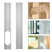 2 Pcs Adjustable Portable Air Conditioner Window Kit Plate Exhaust Hose Tube Us