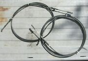 2 1982 Vintage Teleflex Marine Control Cables Throttle And Shift P/n Cc17214 And 212