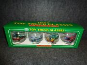 1996 Hess Collectible Toy Truck Glasses - Set Of 4 - Never Used