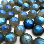 Natural Labradorite Gemstones Round Checker Cut Size In 16mm To 20mm Aaa Quality