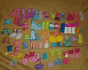 72 Pc Lot Polly Pocket Rubber And Clip-on Clothes Big Lot Free Shipping