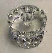 70's Signed And Numbered Scandinavian Orrefors Heavy Lead Crystal Candle Holder