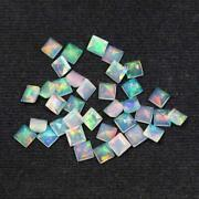 Natural Ethiopian Opal Square Faceted Cut Loose Gemstone Size 3mm Aaa Opal