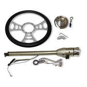 New 30 Auto Ss Steering Column And Adapter And 14 9 Hole Wheel And Flame Horn Button