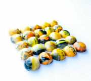 Natural Bumble Bee Jasper Cabochon Loose Gemstones Round Shape Size 21mm To 25mm