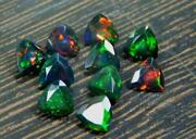 Natural Black Opal Trillion Faceted Cut Loose Gemstone Size 4mm Aaa Color