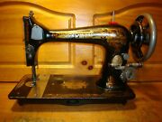 1900 Antique Singer Sewing Machine Head Model 27 Sphinx Serviced