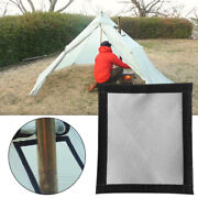Wood Curtain Fire Stove Smoke Chimney Pipe Street Pipe Anti-scald Ring Protect
