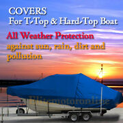Century 2600 Center Console Fishing T-top Hard-top Storage Boat Cover Blue