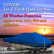 Sea Hunt Gamefish 30 Center Console Fishing T-top Hard-top Boat Cover Blue