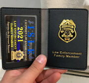 Police Family Member Leather Wallet And Card Withmini Badge Original Isle Product