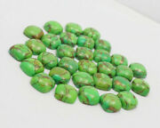 Natural Green Copper Turquoise Loose Gemstones 21mm To 25mm Cushion Cabochon