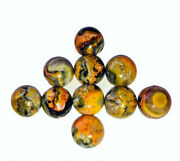 Natural Bumble Bee Jasper Loose Gemstone Round Shape Cabochon Size 11mm To 15mm